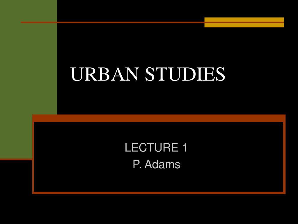 urban studies l.