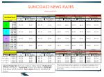 suncoast news rates