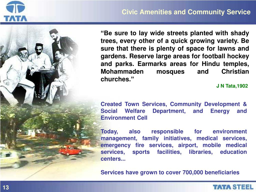 Civic Amenities and Community Service