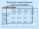 economic impact analysis estill county hospitals