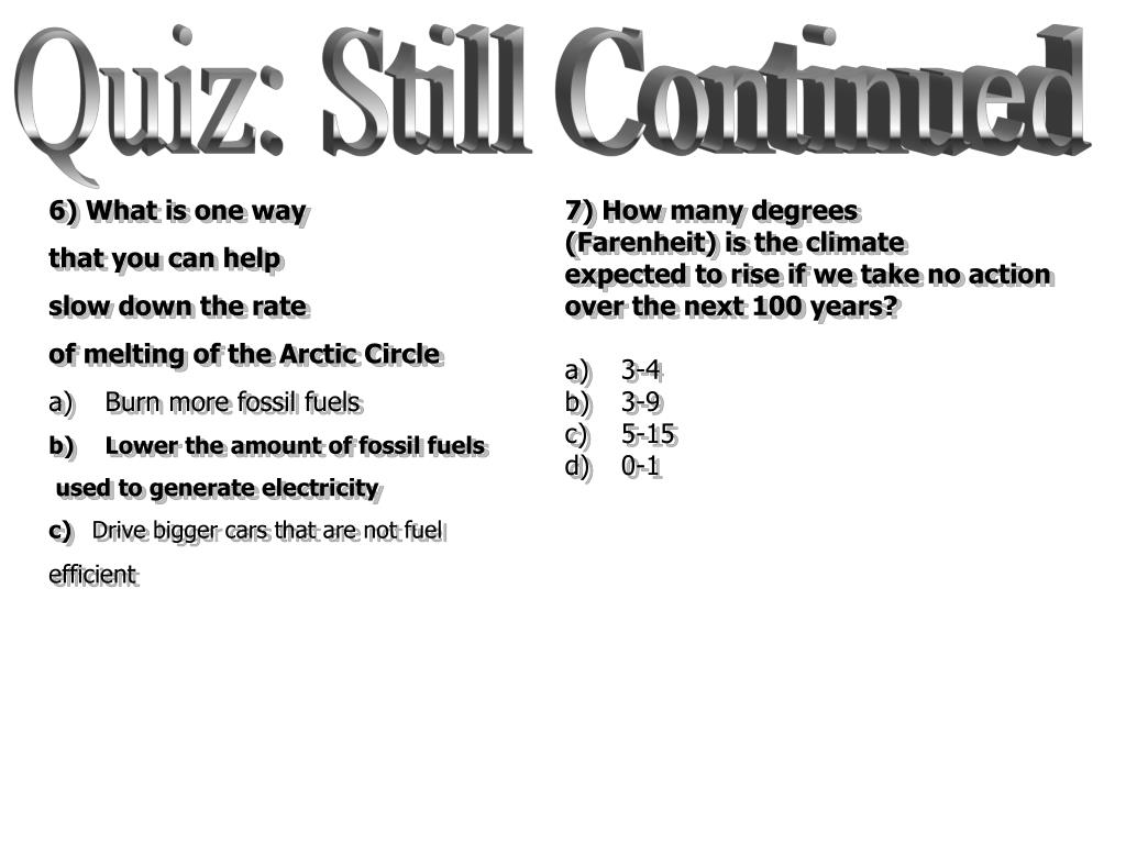 Quiz: Still Continued