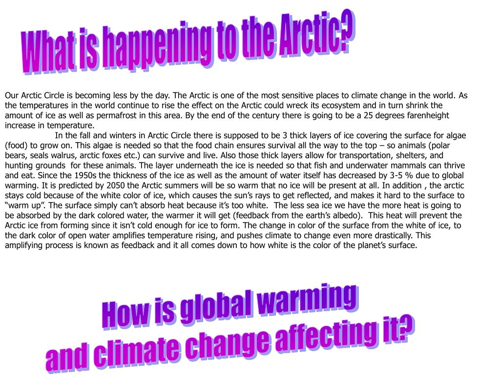 What is happening to the Arctic?