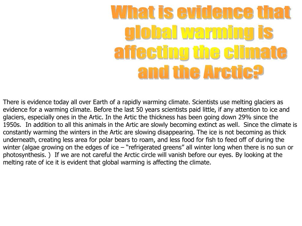 What is evidence that