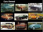 cars owned1