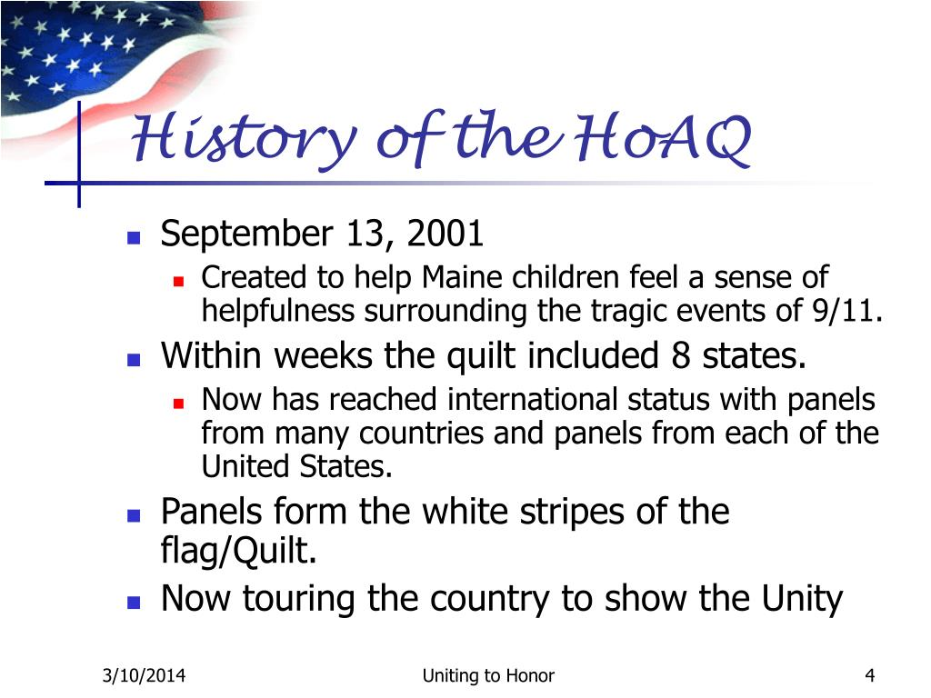 History of the HoAQ