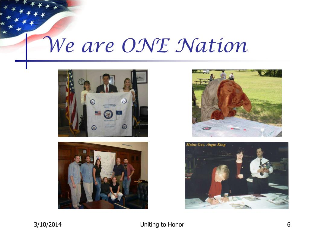 We are ONE Nation