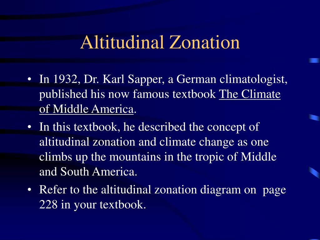 Altitudinal Zonation