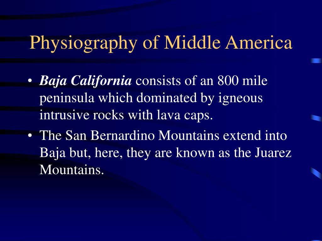 Physiography of Middle America