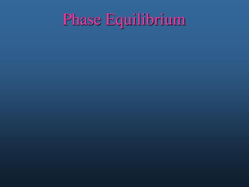 phase equilibrium l.