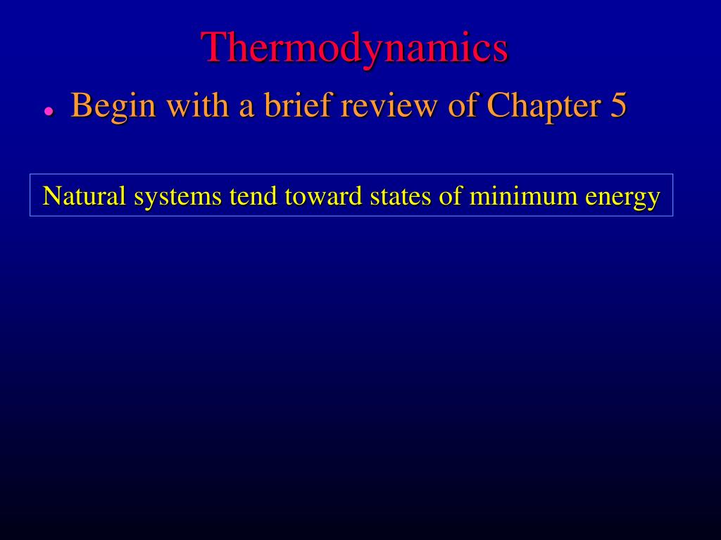 thermodynamics l.