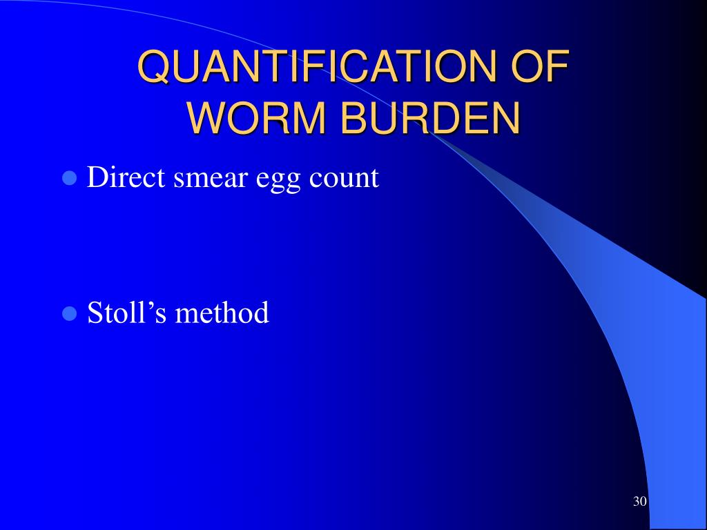QUANTIFICATION OF WORM BURDEN