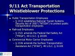 9 11 act transportation whistleblower protections