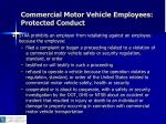 commercial motor vehicle employees protected conduct