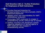 dod directive 1401 3 further protection for employees of dod contractors