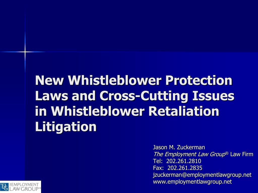 new whistleblower protection laws and cross cutting issues in whistleblower retaliation litigation l.