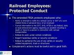 railroad employees protected conduct