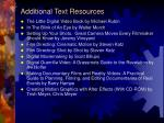 additional text resources