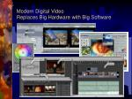 modern digital video replaces big hardware with big software