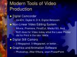 modern tools of video production