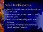 video text resources