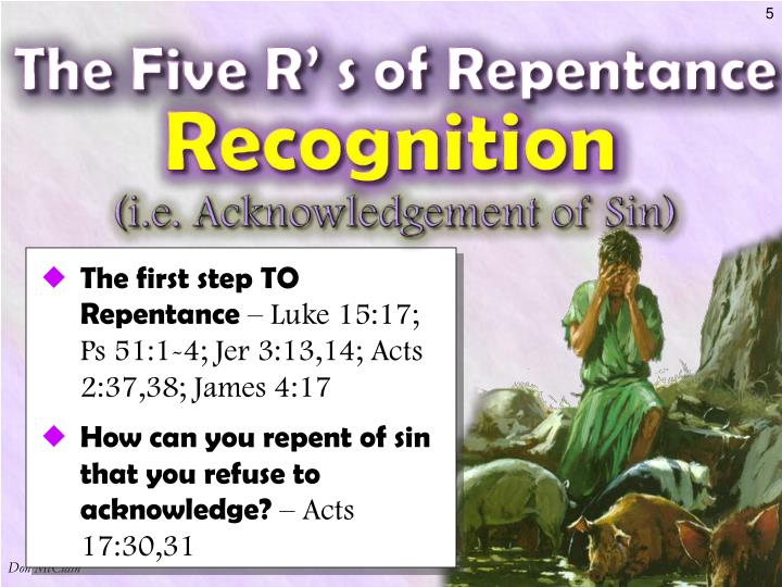 The first step TO Repentance