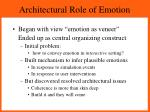 architectural role of emotion
