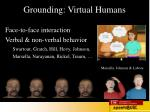 grounding virtual humans