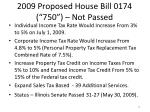 2009 proposed house bill 0174 750 not passed