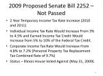 2009 proposed senate bill 2252 not passed