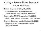 clarity recent illinois supreme court opinions