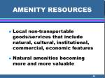 amenity resources