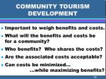 community tourism development