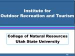 institute for outdoor recreation and tourism
