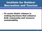 institute for outdoor recreation and tourism21