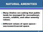 natural amenities