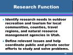 research function