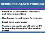 resource based tourism