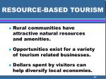 resource based tourism47