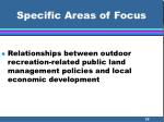 specific areas of focus35