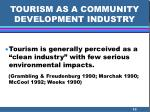 tourism as a community development industry10