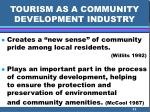 tourism as a community development industry11