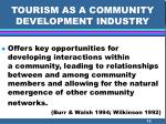 tourism as a community development industry12