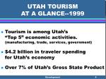utah tourism at a glance 19996