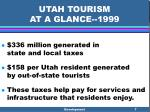 utah tourism at a glance 19997
