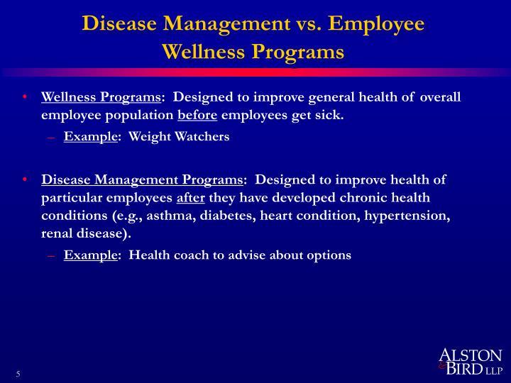 Disease Management vs. Employee