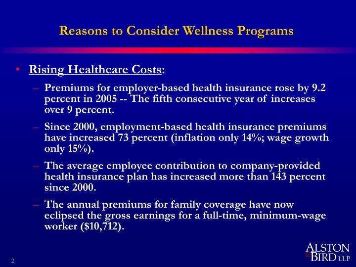 Reasons to consider wellness programs