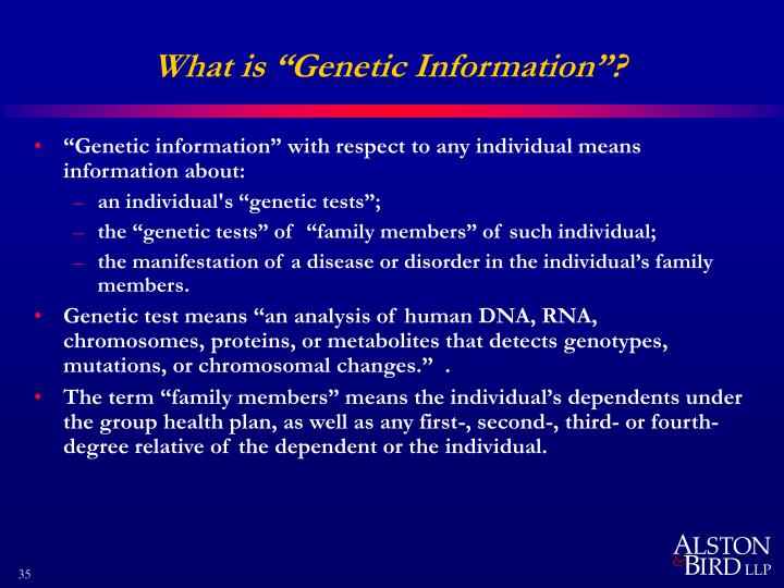 """What is """"Genetic Information""""?"""