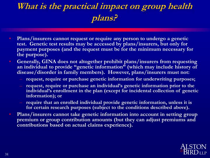 What is the practical impact on group health plans?