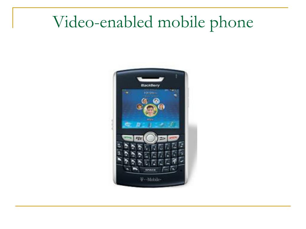 Video-enabled mobile phone