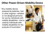 other power driven mobility device